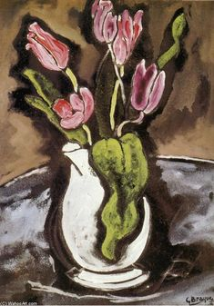 """Vase de tulipes""  Georges Braque"