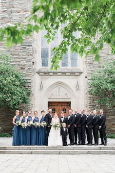 Mt Washington Mill Dye House Wedding Baltimore Wedding Planner East Made Event Company Photo by Lauren C Photography Amsale blue bridesmaids dresses black tie wedding Amsale Bridesmaid, Black Bridesmaid Dresses, Blue Bridesmaids, Black Bridal Parties, Wedding Parties, Loyola University, Baltimore Wedding, Black Tie Wedding, Event Company