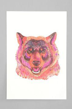 Ola Liola Ola's Bear Art Print - WANT