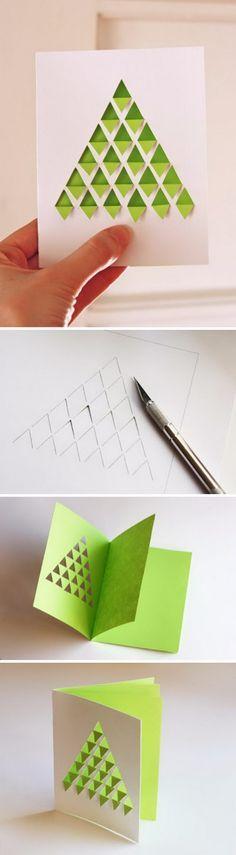 Geometric Christmas Tree Card.