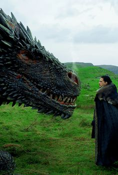 Jon Snow meeting Drogon for the first time. (7x5)