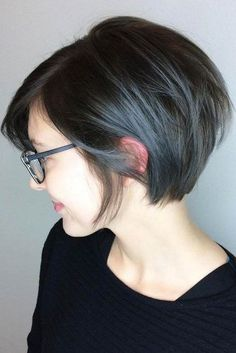 30 Short Ombre Hair Options for Your Cropped Locks in 2019 Dark Brown Bob With Blue Gray Balayage Brown Ombre Hair, Ombre Hair Color, Brown Pixie Hair, Gray Ombre, Blonde Pixie, Short Pixie Haircuts, Short Bob Hairstyles, Pixie Bob Haircut, Hairstyles Haircuts