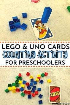 Looking for a much better way to help your preschooler understand numbers? Teach your curious preschooler how to count in this super fun counting activity using LEGO and UNO cards! Click here to get the full scoop on this homeschooling learning activity now. #HomeschoolingPreschoolers #LearningToCountActivity #LEGOLearningActivityForKids