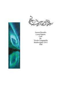 Beaded Cuff Loom/Square stitch Pattern PDF Aurora Borealis. $6.00, via Etsy.
