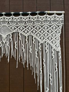 Large Macrame Wedding Arch / Bohemian Decor by WallHuggerHandmade