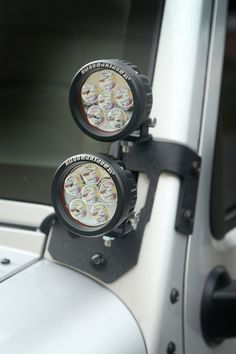 This semi-gloss or textured black A-Pillar light mount kit from Rugged Ridge includes a pair of light mounts and four 3.5-inch round LED lights. Each kit provides a new option for added visibility during evenings on the trail.