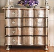 metallic paint on old wood furniture. This is exactly how I'm doing my new room! Furniture Projects, Furniture Makeover, Home Projects, Bedroom Furniture, Upcycled Furniture, Wooden Furniture, Furniture Design, Furniture Online, Cheap Furniture