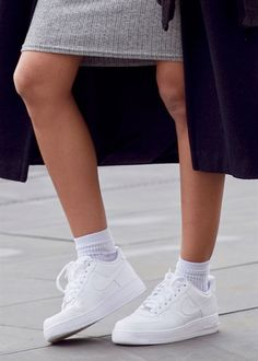 Street Style: London Fashion Week- Athletica. White trainers