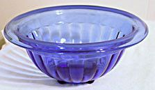 Hazel Atlas - Pillar Optic Rib - Mixing Bowl - Cobalt - 8 3/4""