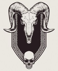 ArtStation - Ram Skull Illustration , Chris Mitchell