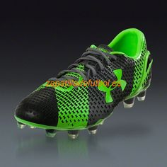 Zapatos de Futbol Under Armour Clutchfit Force FG Para Terreno Firme Negro Grafito Hyper Verde