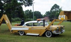 The FORD Edsel didn't win many style awards as a passenger car, but how do you feel about it as a piece of heavy construction equipment?