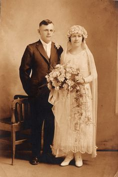 1924 newlyweds Marie Antoinette and Alfred