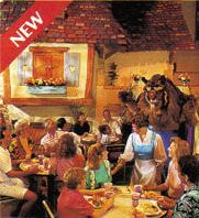 Dining when it was turned into Belle's village and Beasts castle.
