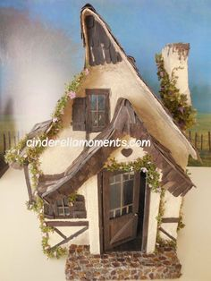 Storybook Cozy Cottage Dollhouse 1 Inch Scale by cinderellamoments, $550.00