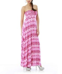Take a look at this Crocus Strapless Maxi Dress by Classique on #zulily today!