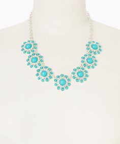 This Turquoise Circle Dot Necklace is perfect! #zulilyfinds