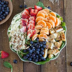 Almond, Berry and Spinach Chicken Salad.