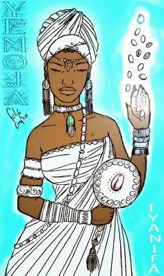 Os Poderosos Orishas : AYABÁ YEMOJA É NOMEADA IYANIFÁ SENHORA DO MERIDILOGÚN