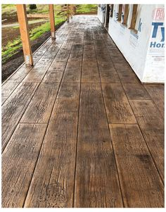Outdoor Concrete Stain, Wood Stamped Concrete, Concrete Floors, Plywood Floors, Concrete Countertops, Stained Concrete Patios, Laminate Flooring, Stamped Concrete Designs, Concrete Stamping