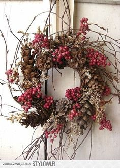Items similar to Nordic Natural Winter Wreath - Small Wreath - Gift - Natural Wreath on Etsy Noel Christmas, Country Christmas, All Things Christmas, Winter Christmas, Nordic Christmas, Natural Christmas, Thanksgiving Holiday, Christmas Projects, Christmas Wedding