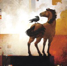 Raven and Horse by Craig Kosak