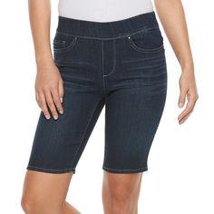 Petite Croft & Barrow® Pull-On Bermuda Shorts, Women's, Size: 12 Petite, Blue