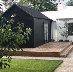 Salons Cottage, Facade House, Black House, Black Shed, Black Barn, White Barn, Home Fashion, Architecture, Exterior Design