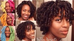 Heatless CurlFormer Sets on natural hair at www.YouTube.com/ParisIn85Channel.