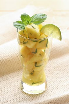 Pineapple Mojito Fruit Salad Recipe by Barefeet In The Kitchen