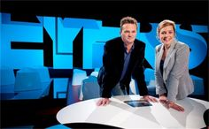"""Our white Tribe chairs are the public's seats @ Belgian television show """"Reyers laat"""""""