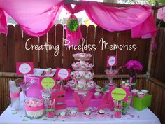 Glamourous Pink and Green Birthday Party Ideas | Photo 5 of 8