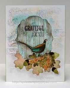 Pretty fall card--Check out Sylvia's Stamp Corner--She has a beautiful blog