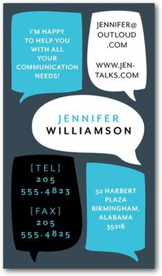 """Business Cards from Tiny Prints. Isn't this design, """"Constantly Chatting"""" fun?"""