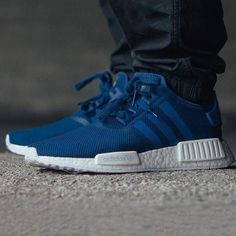 """#hypefeet: @adidasoriginals NMD R1 """"Blue"""" sold out almost immediately today Photo: @notre_shop #fixatd by fixatd"""
