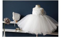 Off White Christening Dress Baptism Dress off by SimplyChicCouture