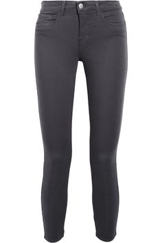 L'Agence - Margot Cropped High-rise Skinny Jeans - Gray - 31