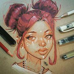 #inktober2016 #inktober #portraitdrawing #inkdrawing #inksketch #portraitsketch #redhead #sketch this mornings #dook number 18.. still one behind..keep on keepin on!