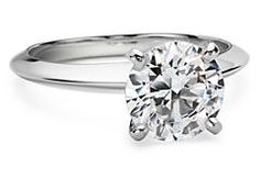 Knife Edge Solitaire Engagement Ring in 14k White Gold. This is only $475.00? Seriously? Awesome.