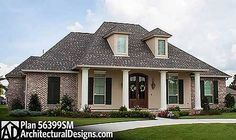4 Bed Acadian House Plan With Bonus Room