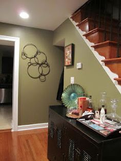 Benjamin Moore - Cleveland Green my living room accent wall