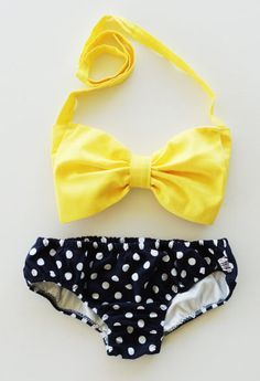 tutorial bikini con lazo para niña