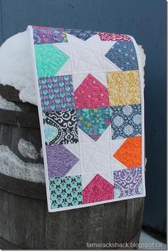 Scrappy Stars Table Runner.  I have always wanted one of these will have to try this.