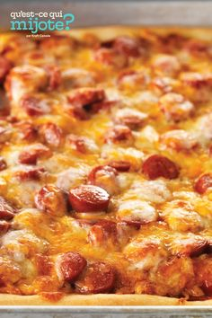 Pizza pour le match de baseball #recette Home Recipes, Cooking Recipes, Just Pizza, Colby Cheese, Tasty Bites, Cooking Instructions, Game Day Food, Calories, Cooking