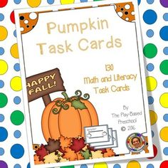 130 pumpkin task cards designed to help develop math and literacy skills. Unique letter matching cards included.Who Can Play…
