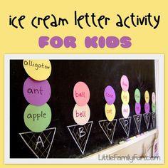Little Family Fun: Ice Cream Letter Activity