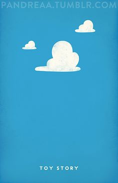 Minimalist posters of popular animated movies... Toy Story