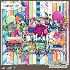 Sweet Summer Days :: Gotta Pixel Digital Scrapbook Store by Pixelily Designs   $4.00