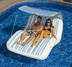 New Huge Floating Cabana Swimming Pool Lake Float Raft | eBay