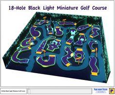 It does exist! 18-Hole Black Light 3D Indoor Miniature Golf Course Design. Fun stuff